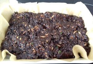 cukkini brownie sütés előtt