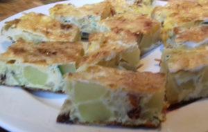 cukkinis omlett szeletelve