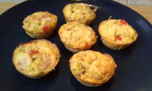 cukkinis tojás muffinok