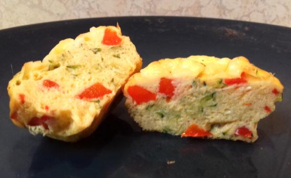 cukkinis tojás muffin