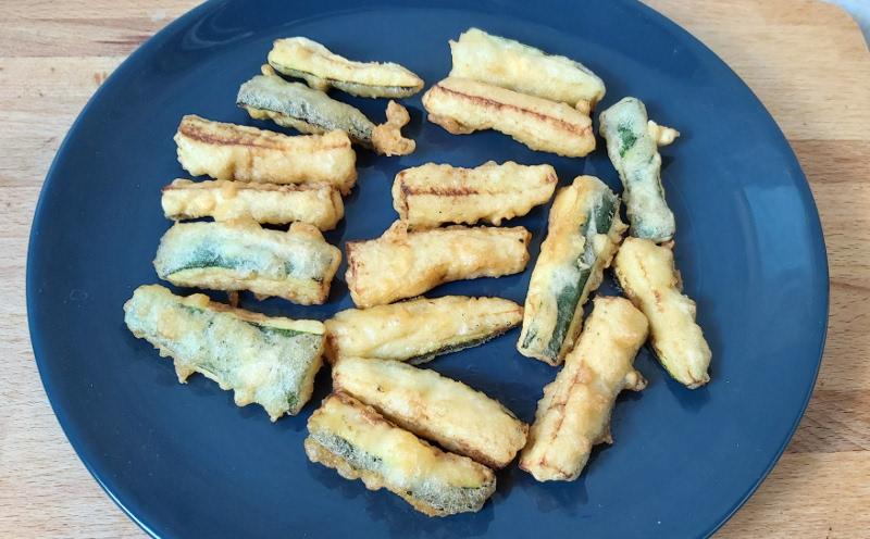 cukkini ropogós bundában, cukkini tempura