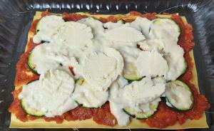 zöldséges lasagne összeállítása