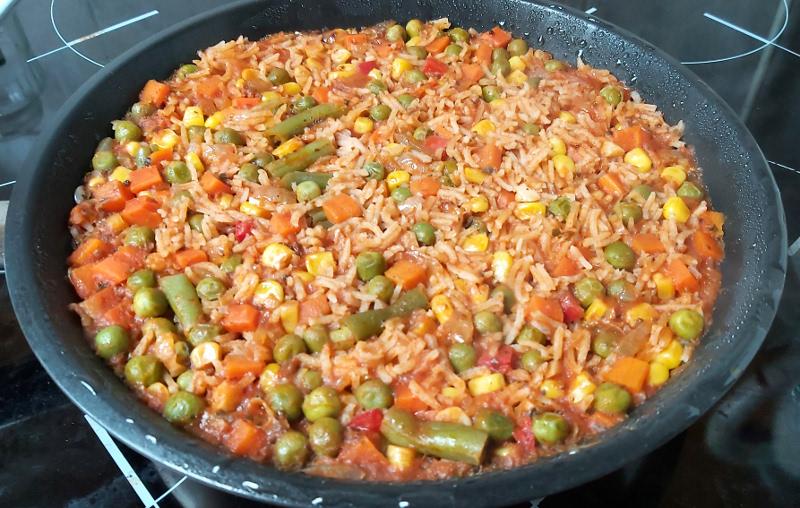 paradicsomos mexikói rizs