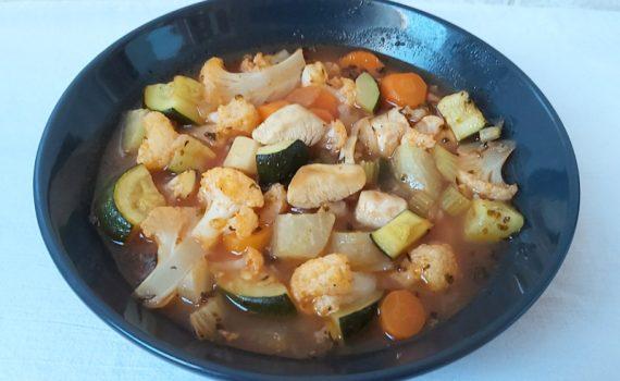 minestrone leves csirkemellel