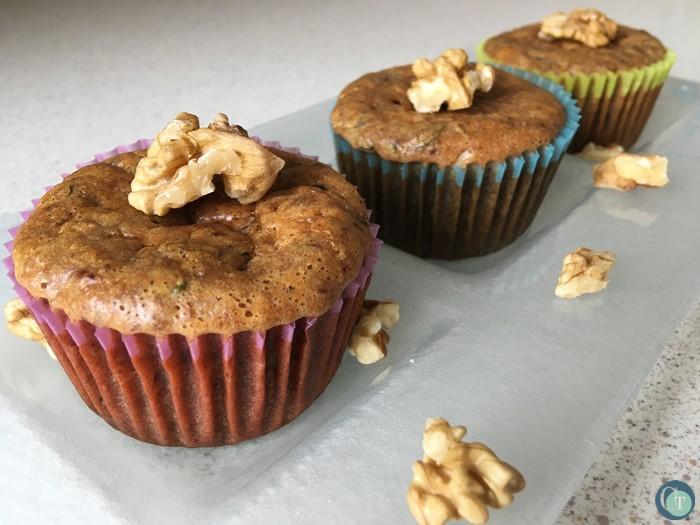 édes cukkinis muffin