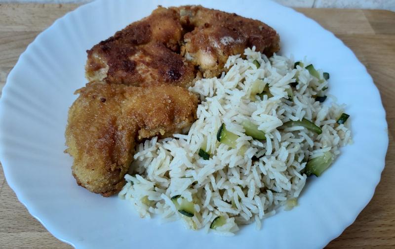 cukkinis rizs rántott csirkeszárnnyal
